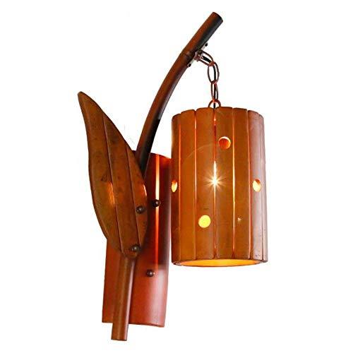 Buiten Binnen Wandlamp Antique Bamboo Lamp Muur Lamp Restaurant Bamboo Decoratieve Light Balkon Slaapkamer Trappen Aisle Retro Wandlamp Wandlamp Bracket Light Wall Lights