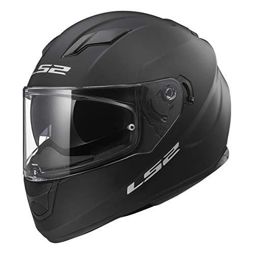 LS2 Helmets Full Face Stream Street Helmet (Matte Black - X-Large)