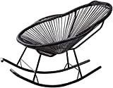 Patio Lounge Chairs Recliner Recliner Rattan Rocking Chair for Kids Adults Nursery Sun-Lounger Recliners Garden Chair with Footstool and Armrest Reclining Deck Chairs for Patio Pool (Color :