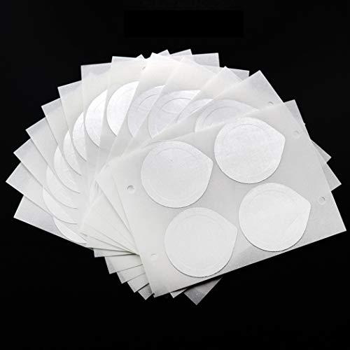 iSuperb 100 Stück Selbstklebende Kaffee-Aufkleber Aluminiumfolie Deckel Aufkleber Kaffeefoliendeckel für die Nachfüllung der Kaffeekapse Kompatibel Teil der Serie Nespresso Kaffee Caspules 37 mm Weiß