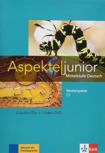 Aspekte junior C1: Mittelstufe Deutsch. Medienpaket (4 Audio-CDs + Video-DVD): Medienpaket C1 (4 Audio-CDs + Video-DVD) (Aspekte junior / Mittelstufe Deutsch)