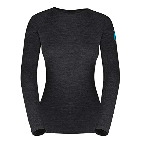 Zajo outdoor dames shirt met lange mouwen ELSA functioneel shirt 83% merino wol thermo-ondergoed van merinowol thermo-bovendeel functioneel ondergoed skiondergoed