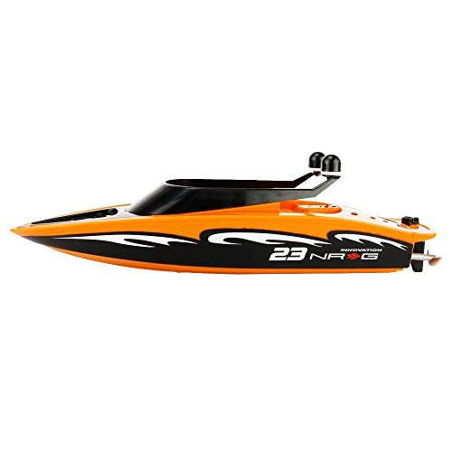 Remote Control Boat Remote Control Boat Lake Boy Kids Infant Orange 2.4GHz 4CH Electric RC High Speed Racing Ship