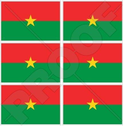 burkina faso Drapeau burkinabè, ancien Upper Volta Afrique 40 mm (40,6 cm) Mobile, Téléphone portable, mini en vinyle autocollants, Stickers x6