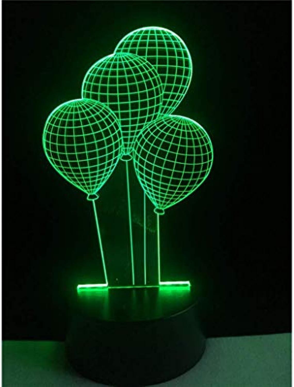 Happy Together Ballon 3D Licht LED Acryl Licht Visuelles Stereo Licht Bunte Nachtlichter Freunde senden, um Liebhaber zu senden