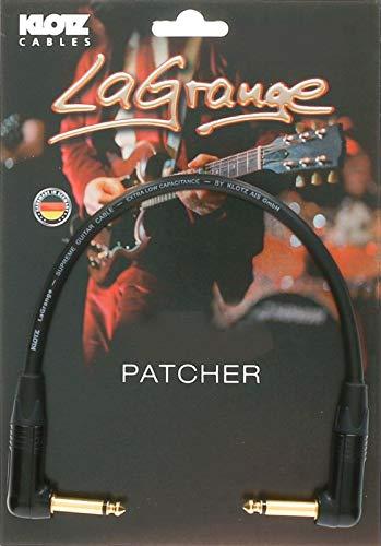 KLOTZ LaGrange - supreme gitarren patch kabel, mit sehr geringer Kapazität, dreifach geschirmt (0,6, gewinkelt-gewinkelt, gold kontakt)