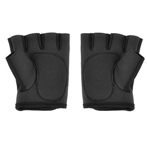1 Paar Fingerlose Boxhandschuhe Halb Mitts Training Boxsport Schlags Handschuhe Unterstützung Handschuhe Für Kickboxen Sparring Grappling Taekwondo S Größe Schwarz