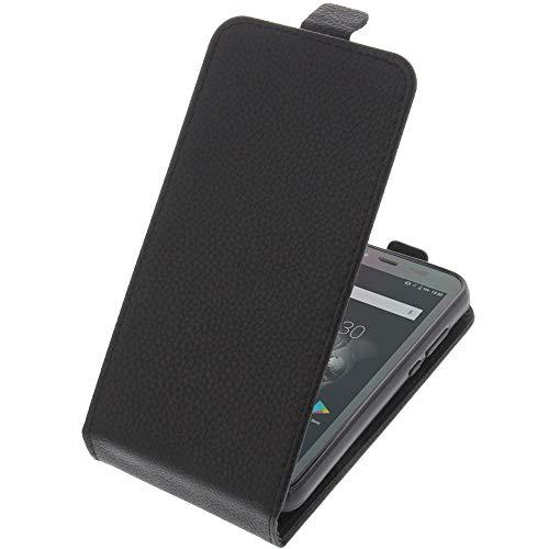foto-kontor Tasche für Blackview BV5500 / BV5500 Pro Smartphone Flipstyle Schutz Hülle schwarz