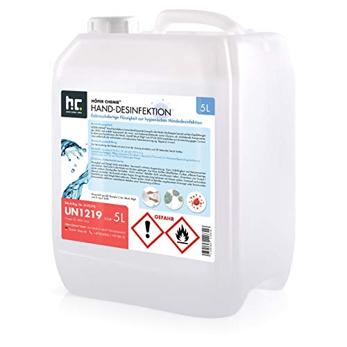 5 L Desinfektionsmittel für Hände - anwendungsfertig - nach Rezept der WHO