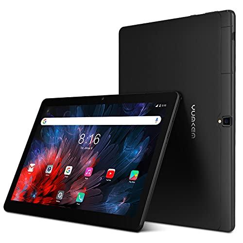 Tablet 10 Pollici Android 11.0 - YUMKEM U211 Tablet,4GB RAM+64GB ROM,WiFi, 1280 * 800 HD,5000mAh,Camara Dual 5.0+2.0MP,GPS Wifi Bluetooth4.2 OTG Tpye C- Nero
