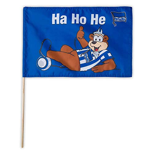 Hertha BSC Berlin Herthinho Fahne 45x30cm (one Size, blau)