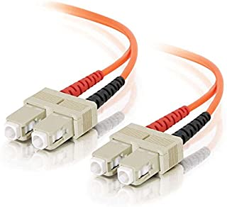 C2G / Cables to Go 09166 SC/SC Duplex 62.5/125 Multimode Fiber Patch Cable, Orange (9 Meter/29.52 Feet)