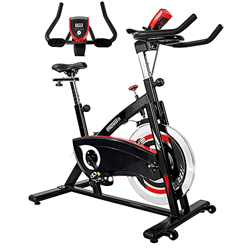 ONETWOFIT Exercise Bike Stationary,Indoor Cycling Bike with 44Lbs Flywheel,Silent Belt Drive,275 Lbs...