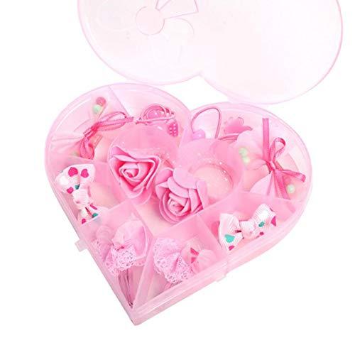 11-teiliges Haargummis aus Haarschleifen, Haarklammern, Gummi, elastisches Band für Mädchen, Krawatten für Mädchen, elastischer Haarclip für Babys C