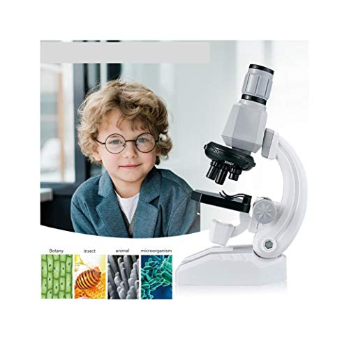 Microscope for Kids Beginner, XGao 100X-1200X Magnification Microscope Kit with LED and Accessories, Educational Science Toys for Children Boys Girls (Gray)