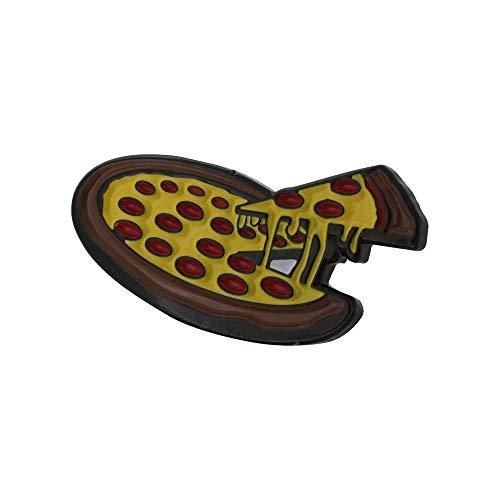 WizardPins Cheezy Pepperoni Pizza Soft Enamel Black Dye Pin– 1 Pin