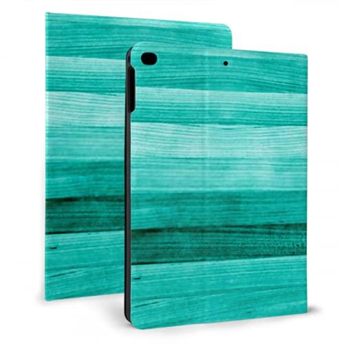 Funda Protectora de Cuero Inteligente ultradelgada para iPad, Madera Pintada de Verde Turquesa Verde Azulado para iPad Mini 4/5 7,9 Pulgadas con función automática de Reposo/activación
