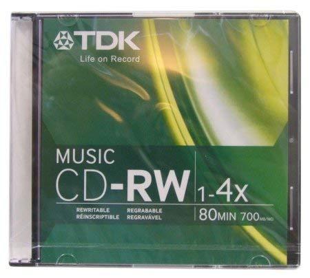 TDK Music 1X-4X 80-Min Digital-Audio CD-RW 10-Pak in Ultra-Slim...