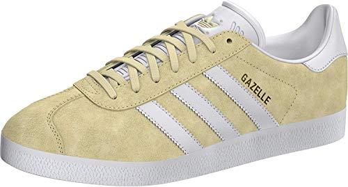 adidas Gazelle, Zapatillas Hombre, Easy Yellow/FTWR White/Gold Met, 38 2/3 EU