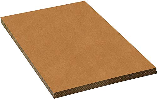 "Premium Corrugated Cardboard Sheets 17"" X 11"" - 50 per Bundle - Flat Packaging Pads - Kraft Double Face - Quantity 50 Pack - for Packing, Mailing, Inserts or Krafts (17x11)"