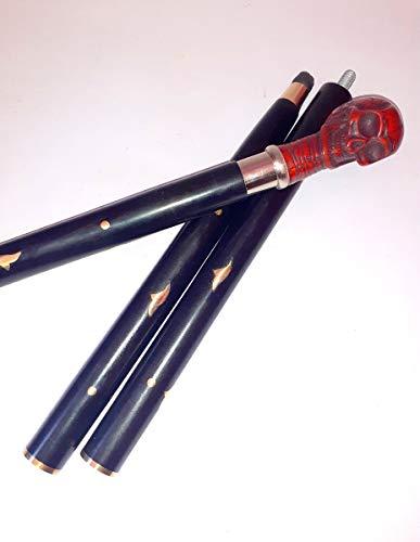 New Condition - Bastón de bastón para caminar con plástico antiguo y mango de madera