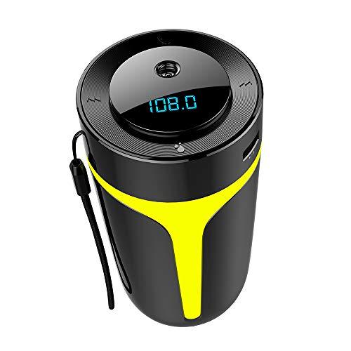 XXCLZ Luchtreiniger, luchtaromatherapie-machine, luchtbevochtiger, 300 ml, FM-zender, Bluetooth 5.0 audio-speler, met led-nachtlampje, voor huis, auto
