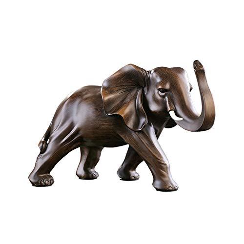 GGYDD Tier Skulptur Decor,tafelaufsatz Moderne Retro Heimtextilien-Handwerk Ornamente Perfekter Begleiter Für Die Kugeln Statue Kommode Wurzelholz-b