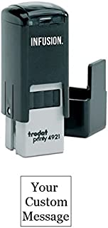 Infusion Custom Self-Inking Rubber Stamp - Small, Square Stamp - (1/2