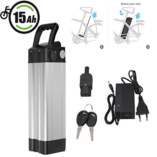 Vinteky 24V 10AH/15AH/20AH Batteria per Bicicletta elettrica agli ioni di Litio per Bici con Custodia al(10AH)