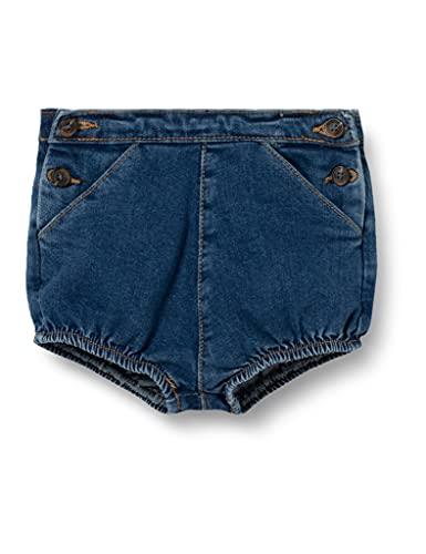 Gocco Spodnie dla niemowląt Bombacho Vaquero uniseks, dżinsowy niebieski, 6-9 Miesiące