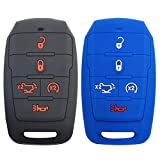 2x Coolbestda Silicone 5B Keyless Remote Entry Control Fob Cover Glove Sleeve Shell Protector for 2021 2020 2019 Ram 1500 Truck OHT-4882056