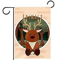 庭の装飾の屋外の印の庭の旗の飾り鹿のかわいい動物 テラスの鉢植えのデッキのため