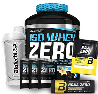 Biotech USA Iso Whey Zero (1 x 2.27 kg) + Shaker + 5 Proben (Vanille)