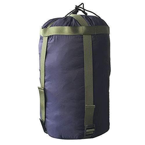 Yundxi 10L Sac de Compression en Nylon imperméable, Rangement Léger Portable et Étanche pour vêtements, Sac de Couchage, oreillers, déplacement, Camping en Plein air (Bleu Marin)