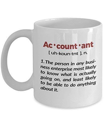 N\A Taza de definición de Contador Taza de café de cerámica de 11 onzas Taza de té Divertido e Inspirador