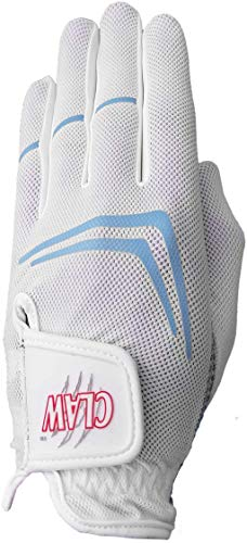 Claw Women's White Golf Glove White - Breathable, Superior Fit, Long Lasting by CaddyDaddy (Small, Worn on Left Hand)