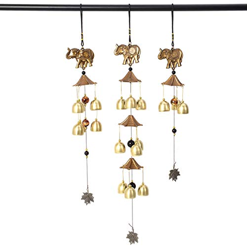Shop LC Delivering Joy Set of 3 Elephant Wind Chimes Home Office Decoration Marriage Gift