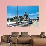 3 Piezas Lienzo Pintura,impresiones en lienzo 3 piezas/set,Moderno Pared Cuadros decoración del hogar Sala de Estar Dormitorio,regalo creativo,50cmx70cmx3(Marco) el capitolio en la habana cuba
