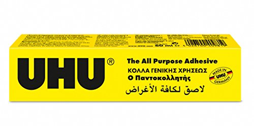 UHU 3-64497 Purpose Crystal-Clear Synthetic Resin Adhesive for a Universal Application, Tube 60 ml