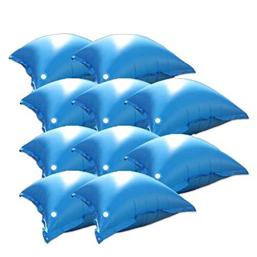 well2wellness® 10 x Pool Luftkissen, Poolkissen und Winterkissen für Abdeckplanen mit neuem Ventil und 4 Ösen