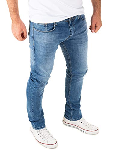 WOTEGA Stretch Jeans Herren Justin Slim - Jeans Hosen für Männer - hellblaue Vintage Denim Hose Jeanshose, Blau (Bijou Blue 183921), W36/L34