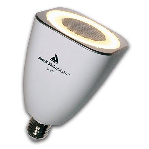 AwoX SL-B10 - Altavoz portátil con bombilla LED (10 W, Bluetooth, E27), blanco