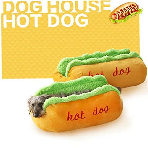 TOSSPER 1pc Hot Dog Hundebetten Abnehmbare Weiche Matte Haustier-sofabetten Für Welpen-Katze Sleepingchihuahua Teddy Nest Pet Gift