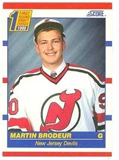 Martin Brodeur hockey card (New Jersey Devils) 1990 Score #439 Rookie Card