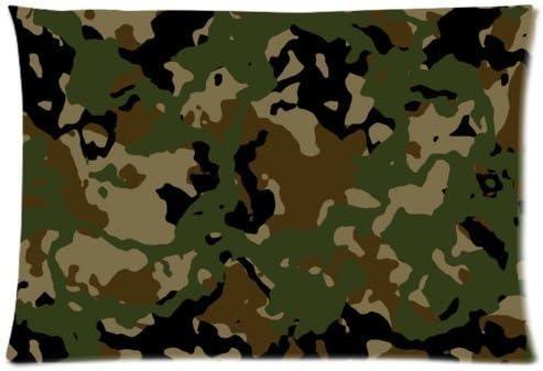 Diseño de camuflaje uniforme Militar verde del ejército patrón de camuflaje manta funda de almohada con cremallera funda de almohada casa sofá decorativo 20