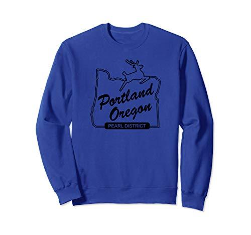 PDX Portland Oregon Sign: Pearl District - Portland Oregon Sweatshirt