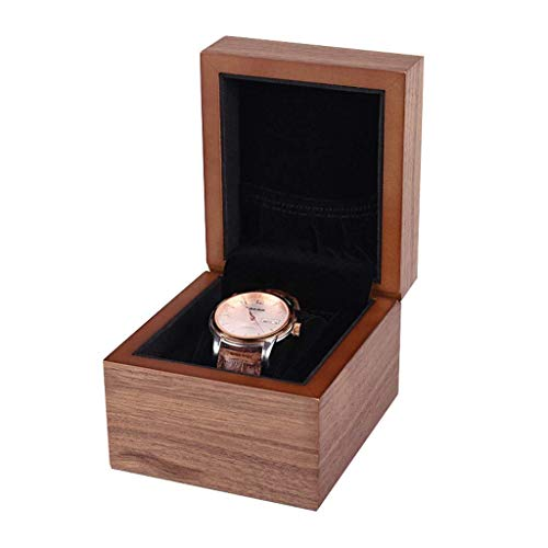 HYCy HYCy 1\2\3\4 Slot Uhrenbox, Elegant Houml;lzern Armbanduhr Schmuck Display Aufbewahrungsbox, Uhrenschatulle Herren Damen (grouml;szlig;e : D)