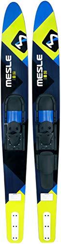MESLE Comboski Strato 170 cm mit B2 Bindung, Wasser-Ski bis 120 kg, für Anfänger und Fortgeschrittene, blau Lime