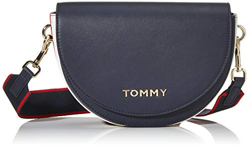 Tommy Hilfiger Damen Tommy Staple Saddle Umhängetasche, Blau (Sky Captain), 1x1x1 cm