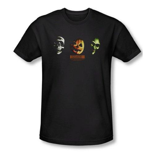 Halloween III - Halloween III - Männer Drei Masken T-Shirt in schwarz, X-Large, Black